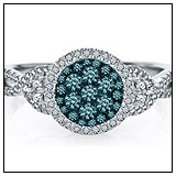 Helzberg Blue Diamond Engagement Ring!