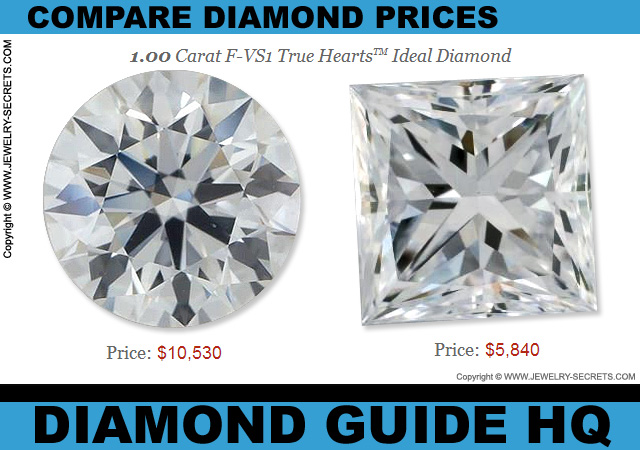 Princess Cut Diamonds are Cheaper Than Round Diamonds!