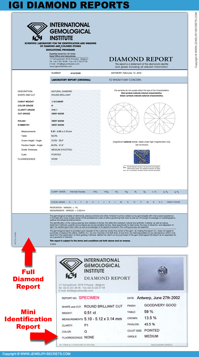 polished certificate certificat igi diamond