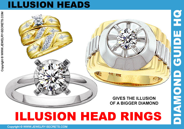 Illusion Head Engagement Rings