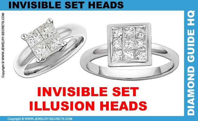 Invisible Set Illusion Head Engagement Rings