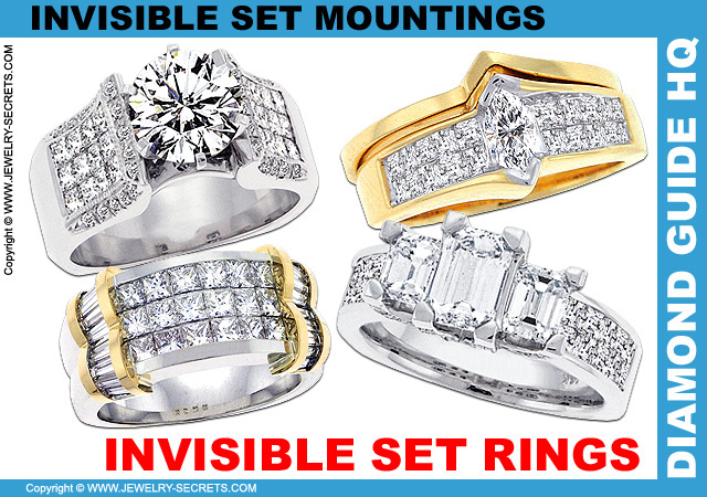 Invisible Set Engagement Rings