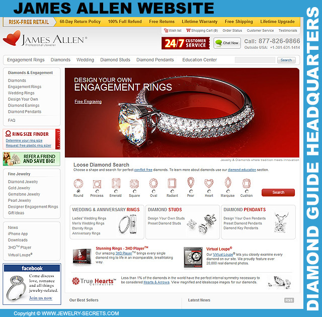 James Allen Diamond Website