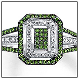 Kays Green Diamond Engagement Ring