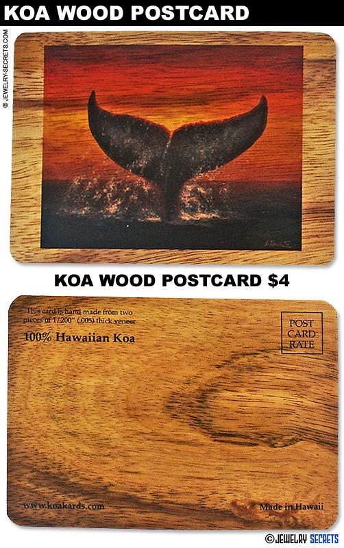 Koa Wood Whale Postcard