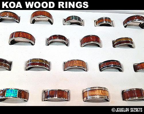 Koa Wood Ring Selection