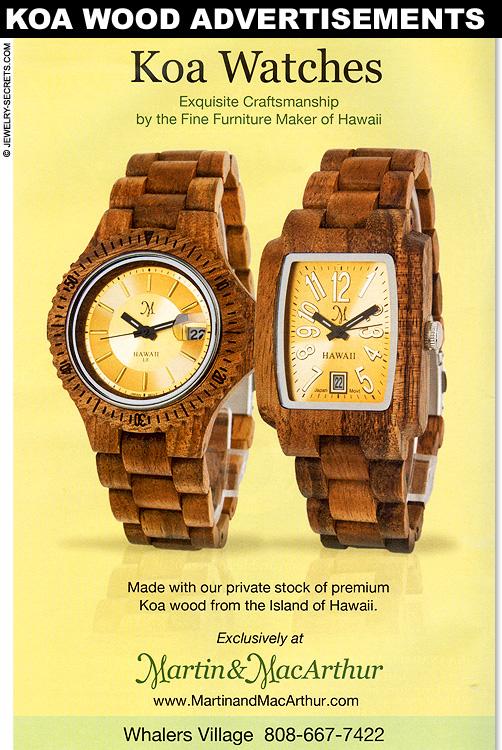 Koa Wood Watch Advertisement