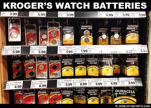 Krogers Watch Battery Prices