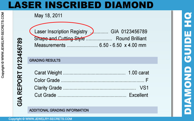 Laser Inscribed Diamond