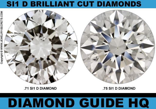 Light Three Quarter 3/4 Carat Diamonds