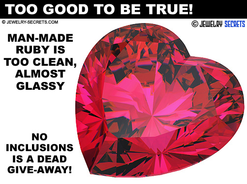 Man Made Ruby Is To Clean And Glassy