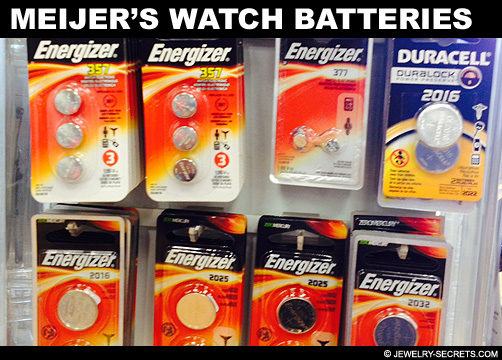Meijers Watch Battery Prices