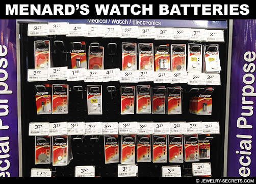Menards Watch Battery Prices