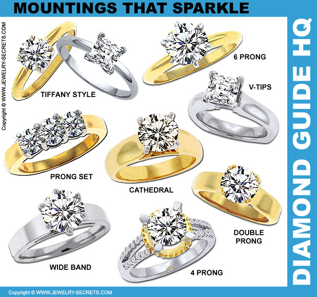 Mountings that Help Diamonds Sparkle