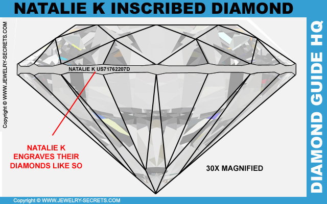 Natalie K Laser Inscribed Diamond
