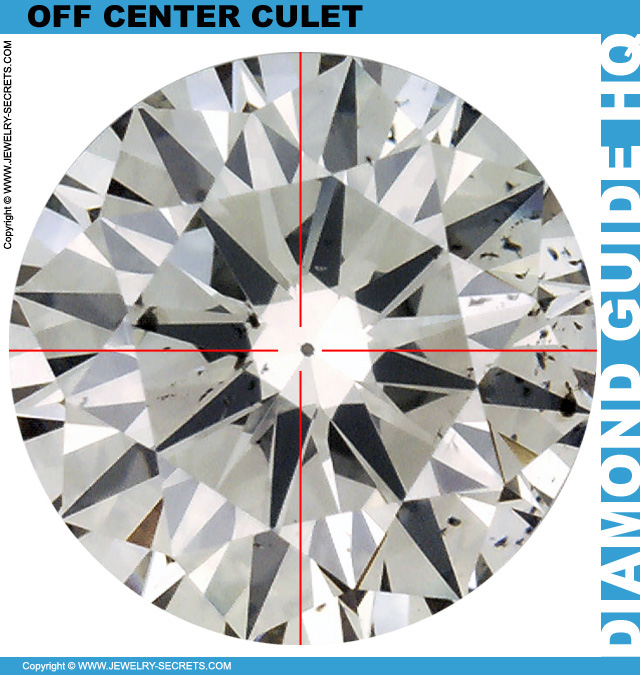 Off Center Diamond Culet