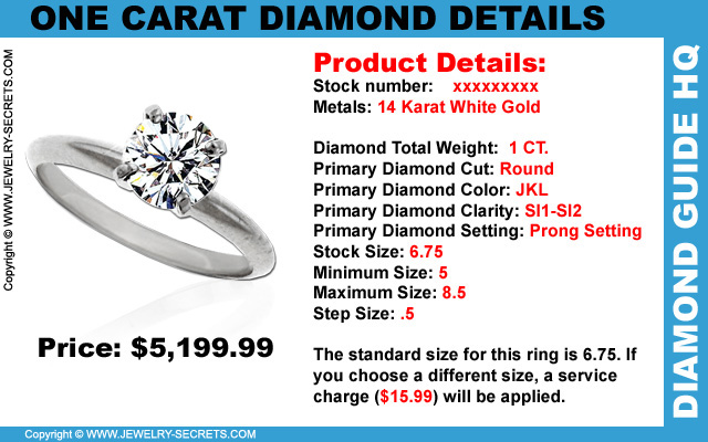One Carat Diamond Details