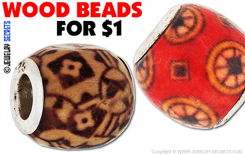 Pandora Wood Beads For A Dollar