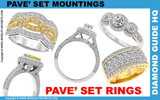 Pave Set Engagement Rings