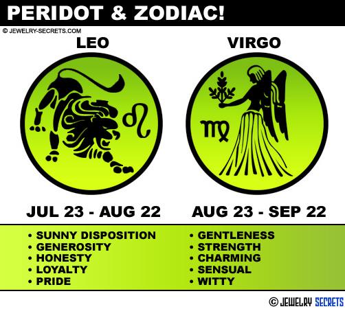Peridot Gemstone And Zodiac Leo Virgo