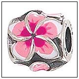 Pink Plumeria Bead