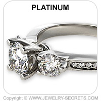 Platinum 3 Stone Engagement Ring