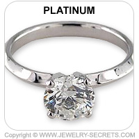 Platinum Tiffany Engagement Ring