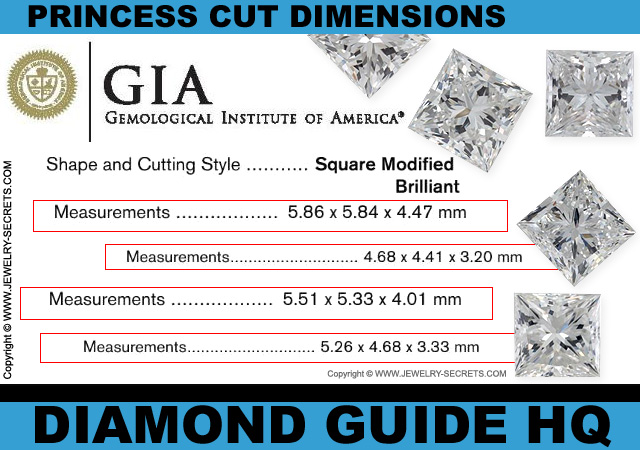Princess Cut Diamond Dimensions!