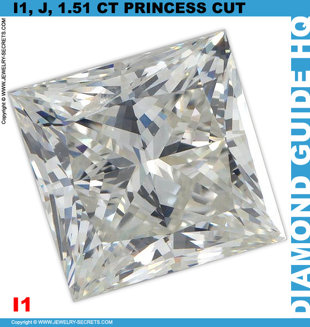 Princess Cut Diamond Flaws and Inclusions!