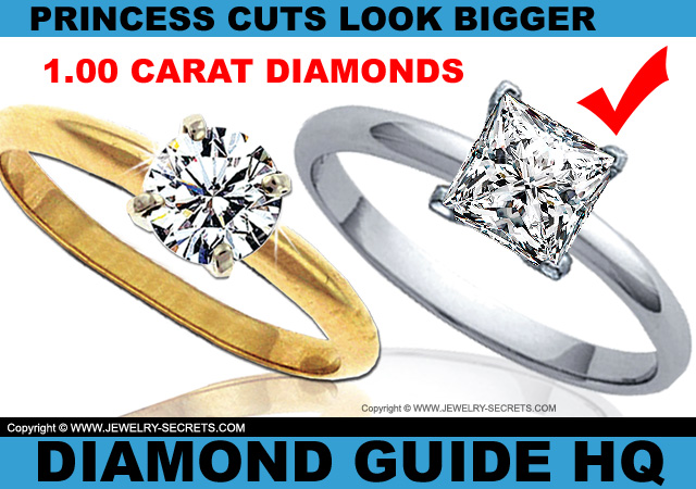 Princess Cut Diamonds Look Bigger Than Round Diamonds!