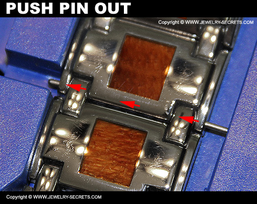Push Watch Pin Through Link