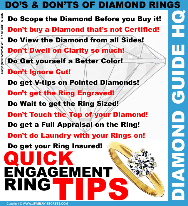 Quick Engagement Ring Tips