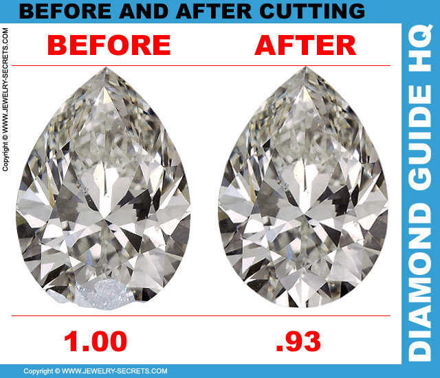 Recut Pear Cut Diamond