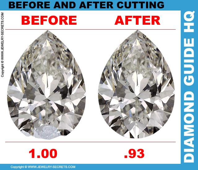 Recut Pear Cut Diamond