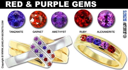What birthstones look good together jewelry secrets - Purple and red go together ...