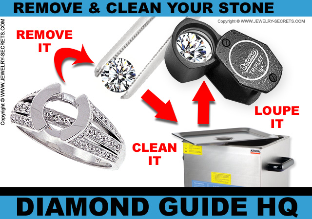 Remove your Diamond and Clean it!
