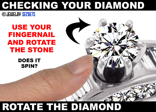 Rotate Your Diamond With Your Fingernail