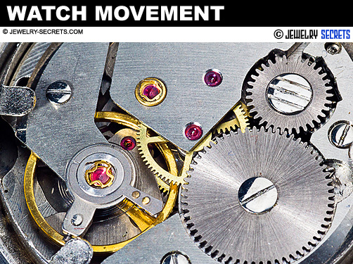 Ruby in Watch Movement