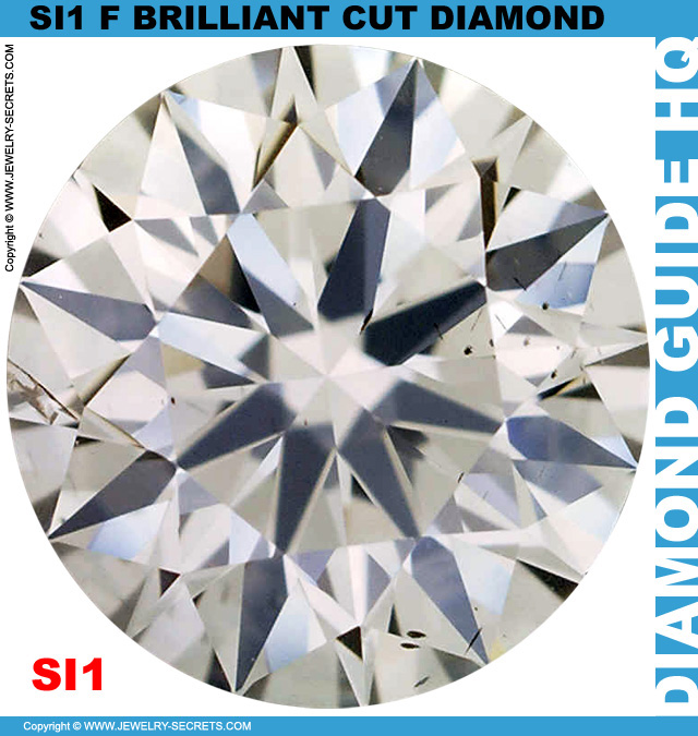 SI1 F Brilliant Cut Diamond