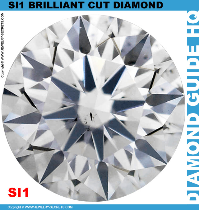 SI1 F Certified Brilliant Cut Diamond