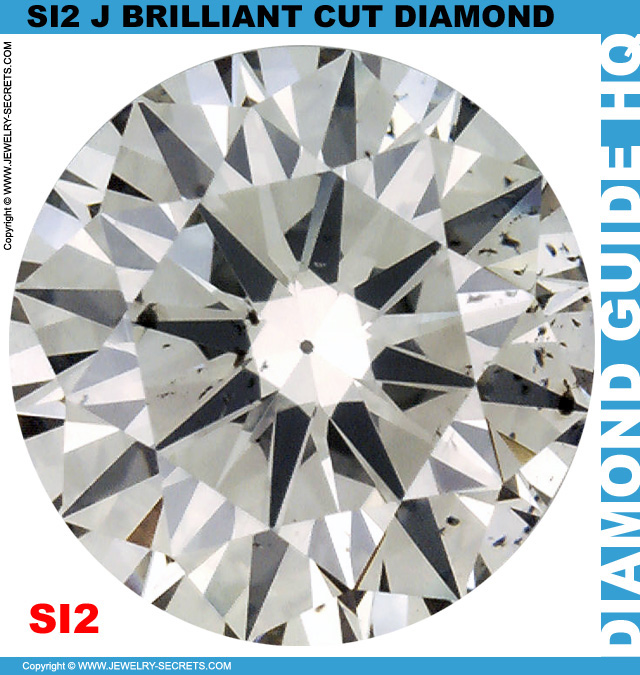 SI2 J Brilliant Cut Diamond
