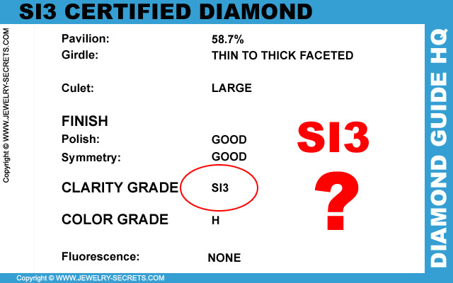 SI3 Clarity Certified Diamond