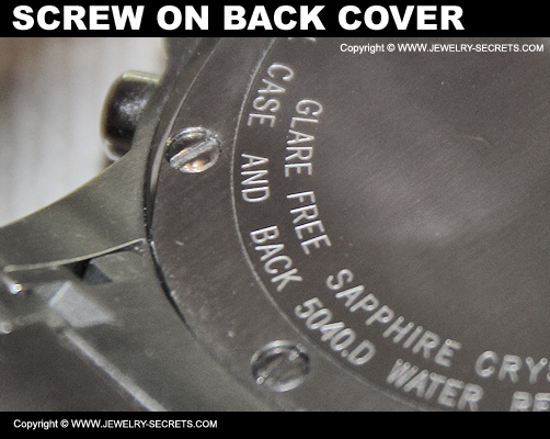 Screw On Watch Back Cover