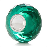 Sea Green Crystal Charm Bead