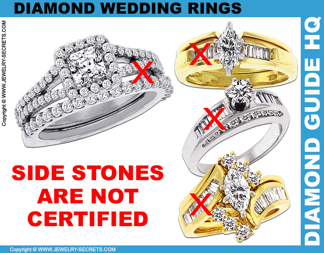 Side Diamonds are NOT Certified
