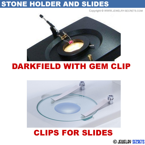 Microscope Stone Holder Gem Clip Slides