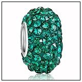 Teal Green Swarovski Crystal Bead Charm