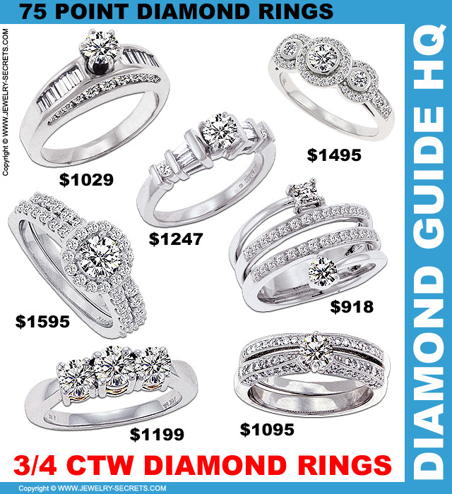 3/4 Carat Diamond Rings