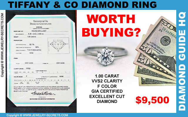 Tiffany 1 Carat VVS2 F Diamond Ring
