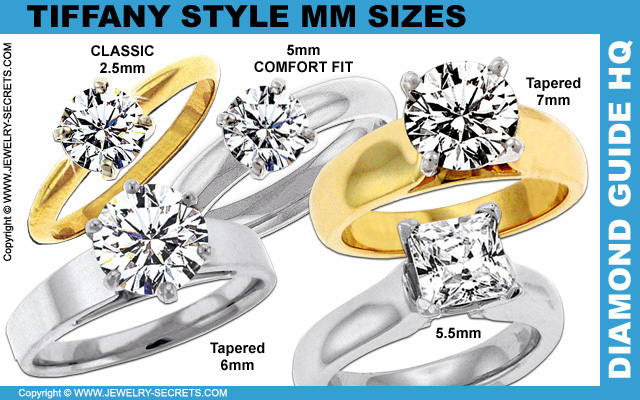 Wide Tiffany Comfort Fit Engagement Rings
